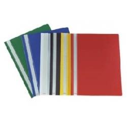 Aplankas raudonas dokumentams su įsegėle A5