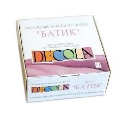 """Akrilinių dažų rinkinys šilkui 9sp. 40ml, """"BATIK"""" DECOLA"""