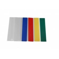 Aplankalas kontorinėms knygoms ir sąsiuviniams A4, skaidrus (spalvoti kraštai)