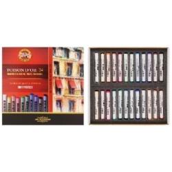 Spalvota sausa pastelė Koh-I-Noor, 24 spalvų