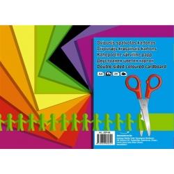 Dvipusis spalvotas kartonas A4 8 lapai