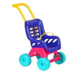 Vežimėlis lėlei plastikinis