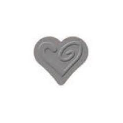 """Dekoratyvinis skylamušis su įspaudu Nr. 026 """"Širdis"""" 32 mm"""