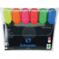 Teksto žymekliai SCHNEIDER JOB, 1-5 mm, 6 spalvų rinkinys