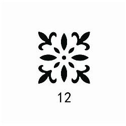 """Dekoratyvinis magnetinis skylamušis Nr. 12 """"Abstrakcija""""38 mm."""