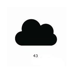 "Dekoratyvinis skylamušis Nr. 43 ""Debesis"", 38 mm."