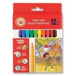 Flomasteriai su piešiniu Koh-I-Noor, 12 spalvų