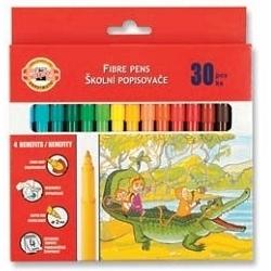 Flomasteriai su piešiniu Koh-I-Noor, 30 spalvų