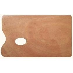 Paletė dažams maišyti medinė, stačiakampė