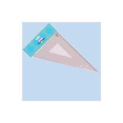 Trikampis 30' 23cm skaidrus