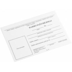 Darbuotojo darbo pažymėjimas A7