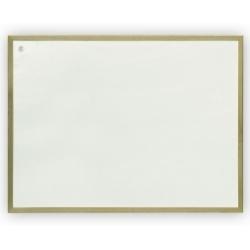 Rašomoji lenta, 60 x 90 cmmedinis rėmas, magnetinė, balta