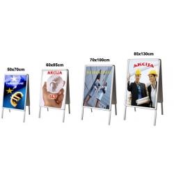 Pastatomas A formos 85x130cm(x2) dvipusis reklaminis-informacinis stovas