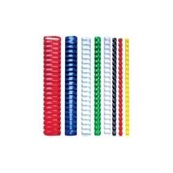 Plastikinė įrišimo spiralė, 14 mm, balta, 100 vnt.