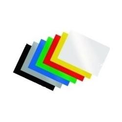 Įrišimo nugarėlės, A4, mėlynos spalvos (chromo), 100 vnt.