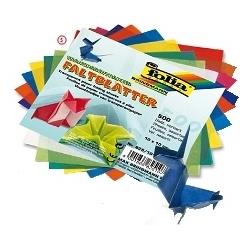 Origami popierius20x20 cm  įvairių spalvų 100vnt, FOLIA