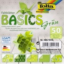 "Origami ""BASICS"" 50 lapų 10x10cm FOLIA, žali motyvai"