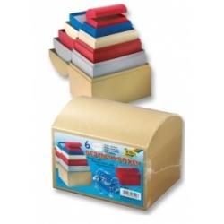 """Dėžutės dovanoms 6 vnt. įviarių spalvų - """"skrynios"""", FOLIA"""