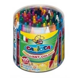 Vaškiniai pieštukai spalvoti CARIOCA, 100 vienetų