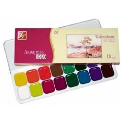 """Akvarelė """"Liuks"""" LUČ 16 spalvų"""