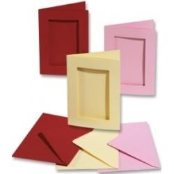 Ruošinys atvirutėms, aukso spalvos – stačiakampis FOLIA, 5 vnt