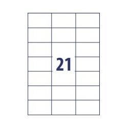 Lipnios etiketės 70x42,3mm 21 lipdukas, 016
