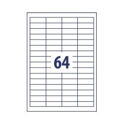 Lipnios etiketės 48,5x16,9mm 64 lipdukai, 002