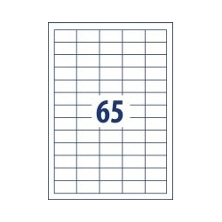 Lipnios etiketės 38,5x21,2mm 65 lipdukai, 001