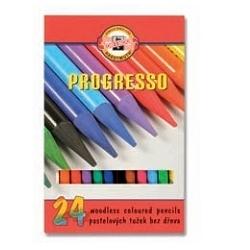 Spalvotų pieštukų rinkinys PROGRESSO, 24 spalvų