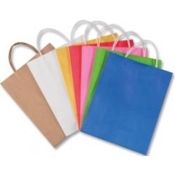 Popieriniai maišeliai 10 vnt. 12*5,5*15 cm., FOLIA, įviairių splavų Matmenys: 12cm plotis, 5,5 cm gylis, 15 cm aukštis.