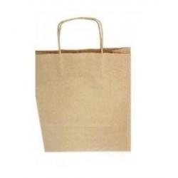 Popieriniai maišeliai KRAFT 20 vnt. 18*8*21 cm., FOLIA, rudi