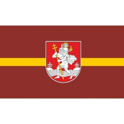 Vilniaus miesto vėliava 1x1,7m su 4 žiedais (kniedėmis)