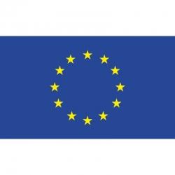 Europos sąjungos vėliava su karabinais 1x1,7m