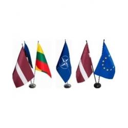 Stovelis su LT, ES vėliavėlėmis metal dviviet sidabrinis 85/400