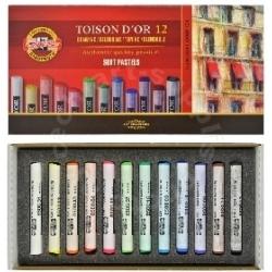 Spalvota sausa pastelė Koh-I-Noor, 12 spalvų