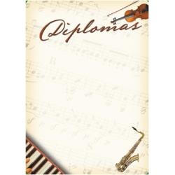 """Diplominis popierius 160g Nr.05 """"Saksofonas"""""""