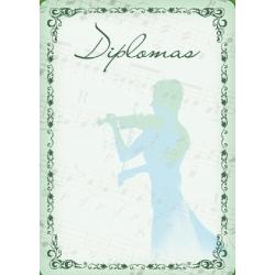 Diplominis popierius 160g Nr. 06 ''Smuikas''
