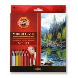 "Akvareliniai pieštukai ""Mondeluz"" Koh-I-Noor, 36 spalvų"