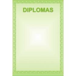 Diplominis popierius 160g Nr. 15 ''Žalias rėmelis''