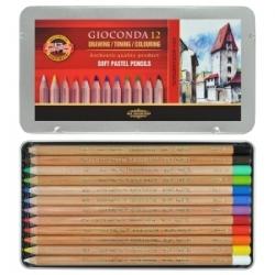 """Pastelinių pieštukų rinkinys """"Gioconda"""" Koh-I-Noor, 12 sp."""