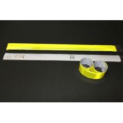 Atšvaitas - susisukanti juostelė 40x3cm, geltonas, PENWORD