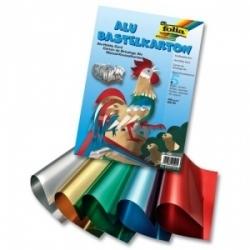 Dvipusis folijuotas kartonas, 5 lapai įvairių spalvų, FOLIA