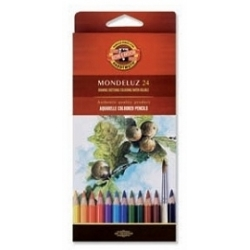 "Akvareliniai pieštukai ""Mondeluz"" Koh-I-Noor, 24 spalvų"