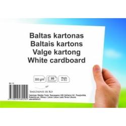 Baltas kartonas A4 10lapų 300gsm