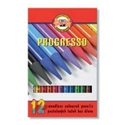 Spalvotų pieštukų rinkinys PROGRESSO, 12 spalvų