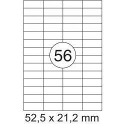 Lipnios etiketės 52,5x21,2mm 56 lipdukai, 004