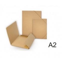Gofruoto kartono aplankas EKO A2 formato su guma