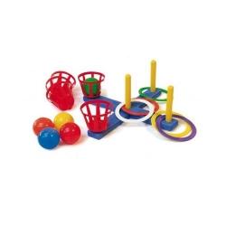 """Žaidimas """"Ringo"""" su žiedais ir kamuoliukais"""