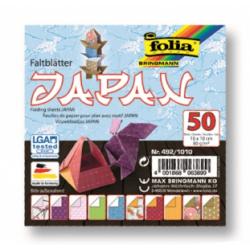 """Origami """"JAPAN"""" 50 lapų 10*10 FOLIA, įvairūs motyvai Lapo matmenys: 10x10cm"""