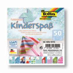 """Origami """"KIDS"""" 50 lapų 10*10 FOLIA, įvairūs motyvai"""
